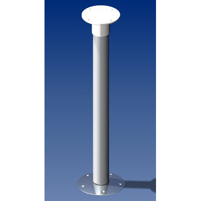 Norsap 2010 Movable Table Column, 25.6 in. (650mm) Fixed Height, Anodized Tube/Stainless Steel Base