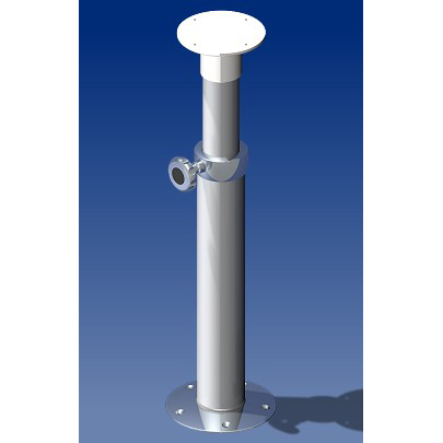 Norsap 2065 Movable Table Column, 18.3-26.8 in Adj Height, Anodized Tube/Stainless Steel Base