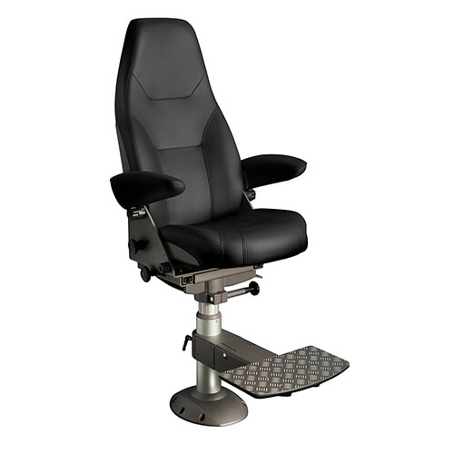 Norsap 1000 Helm Chair, Maximum Seat Height 900mm Fixed Column, Flange Base, No Footrest, Charcoal