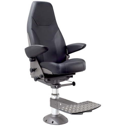 Norsap 1000 Helm Chair, Seat Height 710mm-960mm Gas Dampened Adj Column, Flange Base, Charcoal