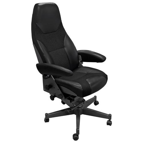 Norsap 1000 Helm Chair, Seat Ht 880mm, Charcoal Fixed Column (can cut down), 5-Leg Star Base