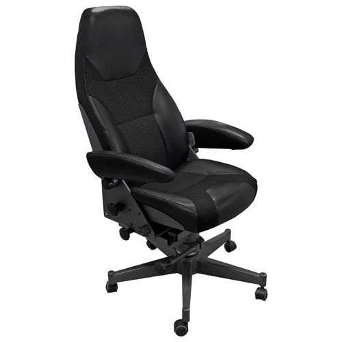 Norsap 1000 Helm Chair, Seat Ht 450mm, Charcoal Fixed Column, 5-Leg Star Base, No Footrest