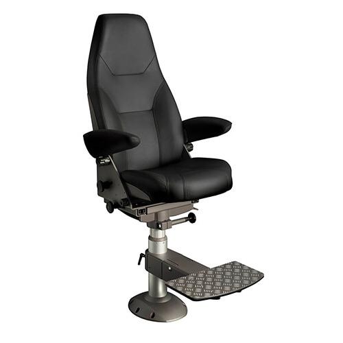 Norsap 1000 Helm Chair, Seat Height 630mm-770mm Gas Dampened Adj Column, Flange Base, Charcoal