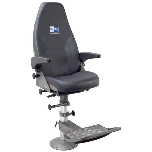Norsap 800 Helm Chair, Seat Height 620mm-820mm Manual Adj Column, Flange Base, Charcoal