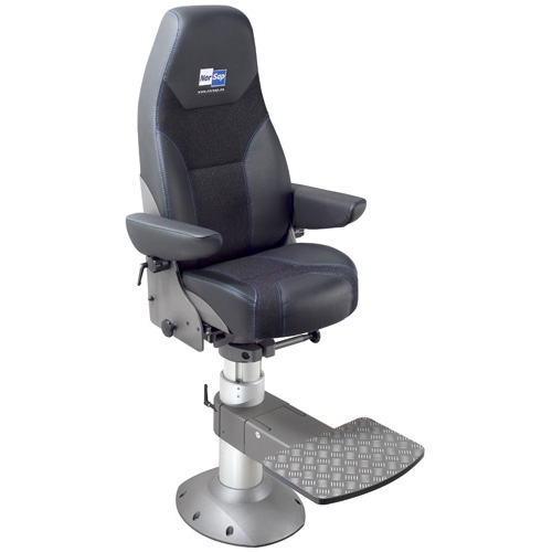 Norsap 1500 Helm Chair, Seat Height 630mm-730mm Gas Dampened Adj Column, Flange Base, Charcoal