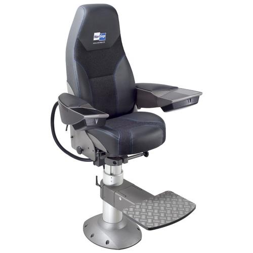 Norsap 1700 Chair,Large Armrests,Seat Ht 665-800mm Gas Dampened Adj Column, Flange Base, Charcoal