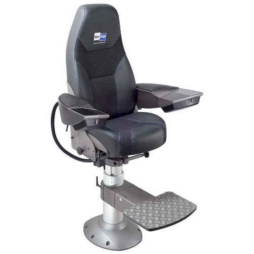 Norsap 1700 Chair,Large Armrests,Seat Ht 630-730mm Gas Dampened Adj Column, Flange Base, Charcoal