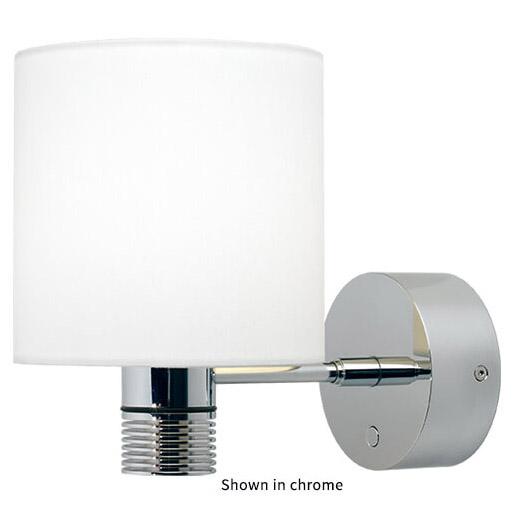 Nova XL LED Wall Light, Matte Chrome, White Shade Warm White, With Switch & Dimmer, 10-30VDC