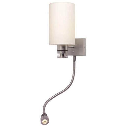 Nova-Flex LED Wall/Reading Light, Matte Chrome White Shade, Built-in Dimmer, 10-30VDC