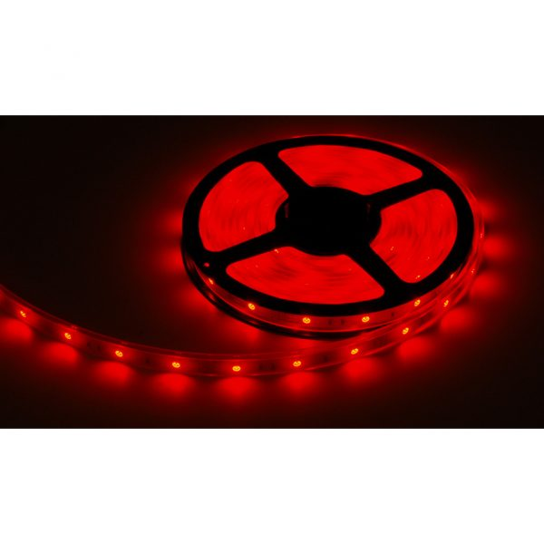 BOM: FLEXIBLE LED STRIP TAPE 12V RED 4' W/WIRE LEADS IP65