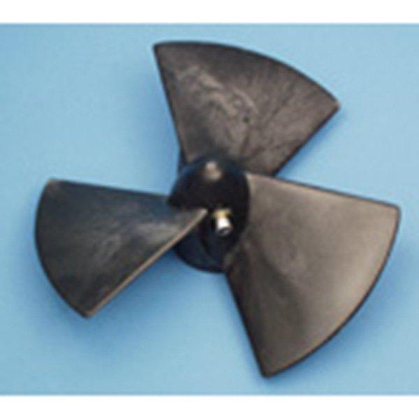 Propeller, 3-Blade, Composite For Old 4hp w/12mm Shaft & Set Screw