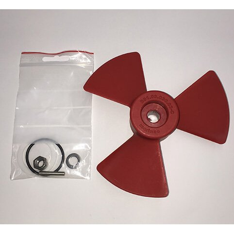 Propeller Kit (Red Prop) for External Thruster Used on EX55C,70C,75S,95S,180D