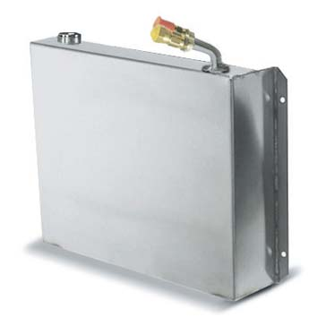 "Evaporator, Holding plate, Stainless steel, quick couplings, 10-7/8""L x 7-7/8""W x 2-3/8""H"