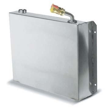 """Evaporator, Holding plate, Stainless steel, quick couplings, 14""""L x 12-3/4""""W x 2-1/2""""H"""