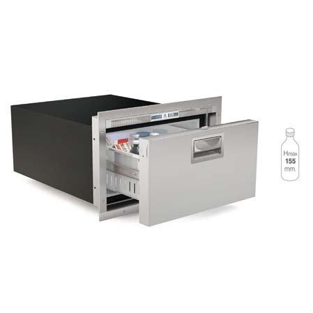 1.2 cu. ft. Single Drawer Refrigerator Stainless steel Flush flange Steelock latch LED interior light external unit 12/24vdc - 115/230vac - 50/60Hz