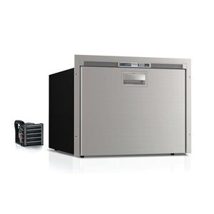 2.6 cu. ft. Single Drawer Freezer w/Ice Maker, Stainless steel, Flush flange, Steelock latch, LED interior light, external unit, 115VAC